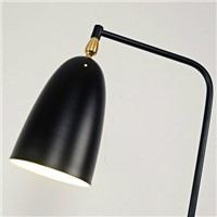 Modern loft iron stand lamp triangle Floor Lamp retro home lighting brief shape design black/white fixture e27 bulb 100-240V
