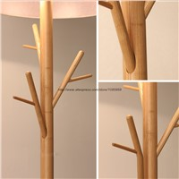 Modern Tree Branch Wood Floor Lamps Lights Bedroom Coat Rack Grey Standard Bedside Lighting
