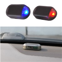 1PCS Universal Car Led Light Security System Warning Theft Flash Blinking Fake Solar Car Alarm LED Light