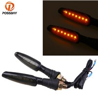 POSSBAY LED Lights Universal Motorcycle Blinkers Turn Signal Lights Indicator Scooter Accessories For Honda Suzuki Harley KTM