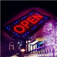 "Bright LED 2 in1 Open & Closed Store Shop Business Sign 9.8*20.47"" Display neon"