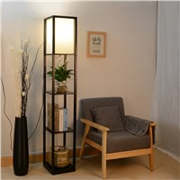 Shelf floor lamp living room in the bedroom of the Chinese study bookshelf storage rack floor lamp wedding gift lighting