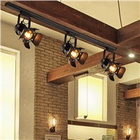 Industrial E27 Ceiling Lamp Track Light Fixtures Decoration Living Room Bar Shop Coffee Commercial Lights Lighting