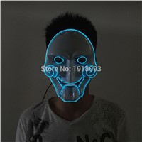 DC-3V Driver+Halloween 10Color Optional glowing EL wire Chainsaw mask LED neon mask Novelty Lighting for  party decoration