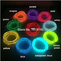 With Auto Car Internal Party Decoration DC-12V 2 Meters EL 2.3-Skirt Wire Flexible Light Glow Rope tape Cable Strip Neon Lights