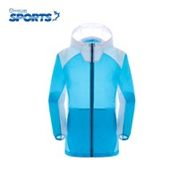 Spring Summer Thin Female Sunscreen Clothing Outdoor Sport Stitching Quick Drying Super Light Tops High Quality