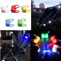 Baby Infant Stroller Outdoor Night Remind Lights LED Flash Caution Lamp
