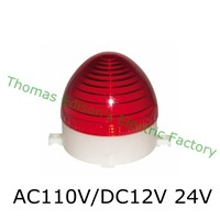 DMWD AC 110V/DC 12V/24V LTE-3072 LED Flashing warning Light traffic light S-60 indicator light