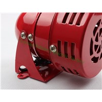 DC 12V  MS-190 Automotive Air Raid Siren Horn Car Truck Motor Driven Alarm Red Universal Car Horn for Pickup Truck
