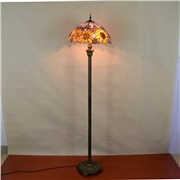 European style Tiffany colored glass living room study Sun decorative floor lamp