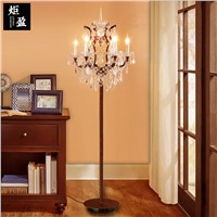 American country iron crystal   dining room   villa  floor lamp