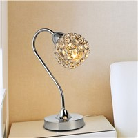Adjustable optical crystal decorativeTable lamp simple modern fashionable bedside bedroom study room T47