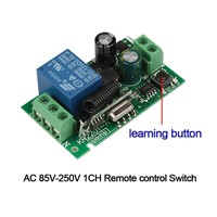 433Mhz Universal Wireless Remote Control Switch AC 110V 220V 1CH Relay Receiver Module and RF 433 Mhz Transmitter Remote Control