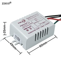 ZINUO1 Way 2 Way 3 Way 220V Wireless ON/OFF Digital RF Remote Controller Switch Receiver Transmitter For LED Ceiling Panel Lamps