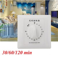 30/60/120 min. High Power Pump Motor Time Switch Countdow Intelligent Time Switch AC 220V 10A Promotion