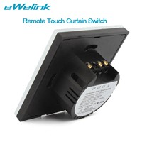 eWelink EU Standard Wireless Remote Control Curtain Switches, Glass Panel Touch Curtain Switch for Electric Curtain Motor