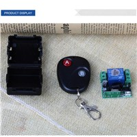 QIACHIP Universal Wireless 433MHz RF Relay 1 CH Transmitter Remote Control Switch For Garage Door Opener Key Fob Remote Controls