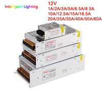 12V 1A/3A/5A/6.5A/8.5A/10A/12.5A/15A/16.5A/20A/25A/30A/40A/50A/60A Switch LED Power Supply Transformer