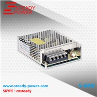 S-40W 5V 8A / 12V 3.5A / 24V 1.6A 40W aluminum enclosure power supply,IP20 smps ,led driver