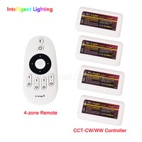 Manual universal testing Mi light remote led control + 4x ww/cw controller for led strip light