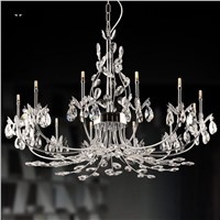 8/12/24 Lights Chrome Iron Branch Crystal Chandelier Fixture Contemporary Luxury Big Art Deco Hanging Pendant Lamp Lustre Design