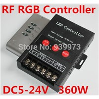 LED RGB RF REMOTE CONTROLLER 360W  FOR  5050 RGB LED STRIPS  AND 3528 RGB STRIPS