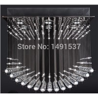 New flush mount luxury contemporary wave crystal chandelier ,living room dinning room light K9 crystal lamp