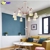 FUMAT Indoor Lighting Modern Spider Chandeliers Iron Felxible Light Fixtures Dinning Room Luminaire Hotel Chandelier Lights