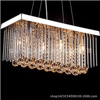 Modern Crystal Chandelier For Dining Room Lamps E14 Crystal Chandeliers Square Lamp Rectangle Living Room Lighting WPL218