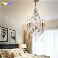 FUMAT American Crystal Chandelier For Dining Room Living Room Vintage Lamp LED Candle Crystal Lightings Nordic Chandeliers