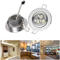 10pcs/lot LED Downlight 3W Spot LED DownLight Dimmable 110V 220V LED Spot Recessed Downlight White house