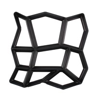 Irregular 9 Grids Garden Path Maker Mold Paving Cement Brick Paving Stone Mould Courtyard Ornament Stone Road Tool