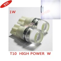 10 pcsFacroty directly sale Parking light LED T10 1W High Power DC 12V Car corner light White or 194 168 w5w led lights for cars