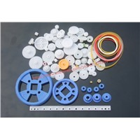 80 Pcs Different Type Mini Micro Plastic Gear 0.5 Modulus Rack Reduction Gear Box Use For micro motor Technology Model Making