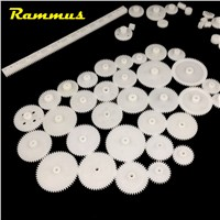 Rammus 60pcs Mixed Plastic Toy Gear Gearbox DIY Repair Fix Model Four Wheel Car Ship Robot Child Scientific Accessories Tool