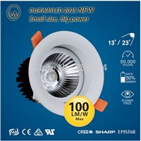 new design SAA CE UL approved eyeshield anti-glare led downlight 6w with small beam angle 13,23 for commerical use