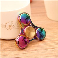 500X   UFO Finger Gyro Spin Rotary Metal Glow Gyro Alloy Colorful Decompression Toys Anxiety Autism Gift