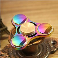 10X   UFO Finger Gyro Spin Rotary Metal Glow Gyro Alloy Colorful Decompression Toys Anxiety Autism Gift