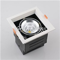 9w 15w 25w 40w adjustable led square grille downlight lamps with SAA TUV led driver 3 years guarantee
