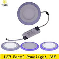 T-SUNRISE LED panel light 18W LED ceiling lights bathroom flat light LED panel lights double color fixtures ceiling 2835 SMD