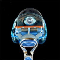 1pc Clear Plastic Super Suction Cup Razor Rack Bathroom Razor Holder Suction Cup Shaver Storage Rack Blue Worldwide New Arrival