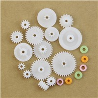 75pcs/Set High Quality Plastic Crown Single Double Worm Grear Belt Pulley DIY Tools For Robot