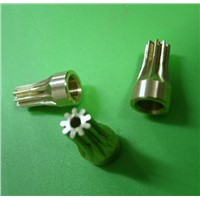 Long:15mm  Photo machine inkjet Accessories  0.5M-9Teeths Small electrical motors driving copper gear--hole d:5mm