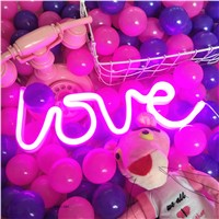 Ins pink romantic love neon sign  decoration heart neon light