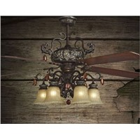 52inch fan chandelier fan light living room bedroom modern minimalist fashion antique leaf fan light chandelier fans
