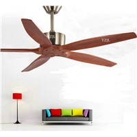 Nordic simple home living room dining room ceiling fan lights no lights fan European vintage industrial ceiling fans