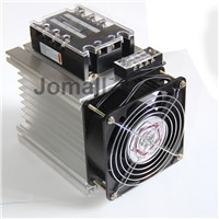 Three Phase Solid State Relay SSR Aluminum Heat Sink Dissipation Radiator Y shape 150*125*135mm Aluminum Heat Sink + fan