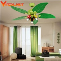 Decorative bedroom ceiling fan kids iron ceiling fans for kids rooms ceiling fan light lamparas de techo ventilador