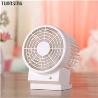 Ultra-quiet Summer Portable Mini USB Fan Office Desk Fan Leque Air Conditioner double Blades Second Gear Speed Fans