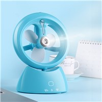 New Summer Humidifier Mini Fan USB Rechargeable Water Mist Fan With Lithium Battery Office Home Cooling Fan